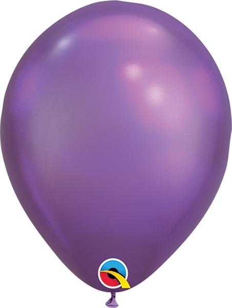 11 Inch Chrome Purple Latex Balloon 100pk Balloons Com