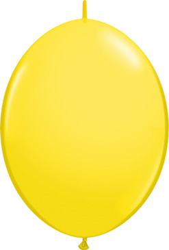 12 Inch Yellow Quick Link Latex Balloons 50pk