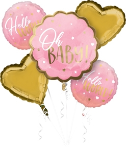 Pink Baby Girl Bouquet Balloon Kit