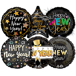 Std New Year Balloon ProfitPak 25 pk.