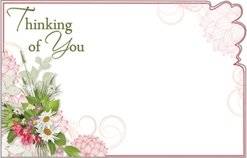 Thinking of You Floral Enclosure Cards 50 pk