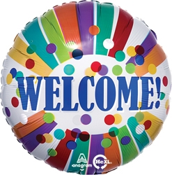 Std Welcome Dots & Stripes Balloon
