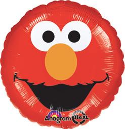 Std Elmo Smiles Foil Balloon