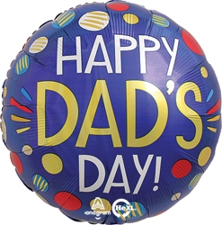 Std Father's Day Dots Balloon