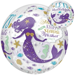 Orbz Mermaid Wishes Balloon