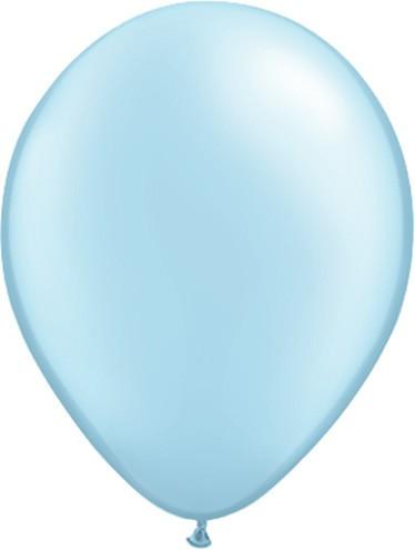 11 Inch Pearl Pastel Blue Latex Balloons 100 Pk Balloons Com