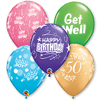 Printed Message Latex Balloons